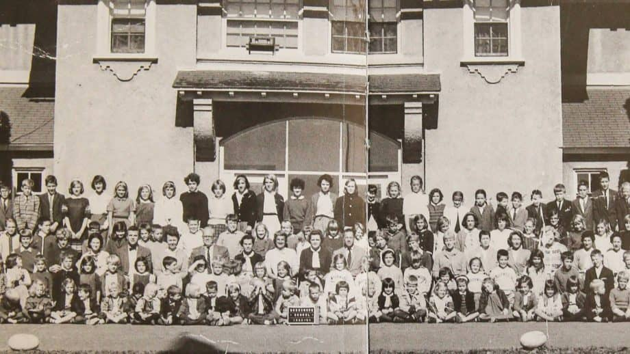 Picture of Brookwood School faculty and student body in 1964