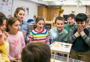 Grade 4 class is shocked by physics experiment