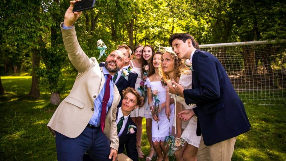 Group of graduates take a selfie