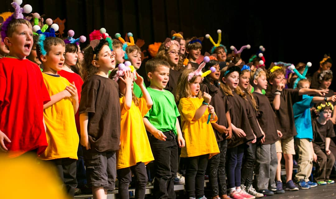 Kindergarten class as ensemble in play