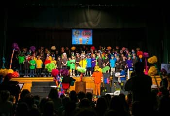 Kindergarten and Grade 1 student perform The Lorax