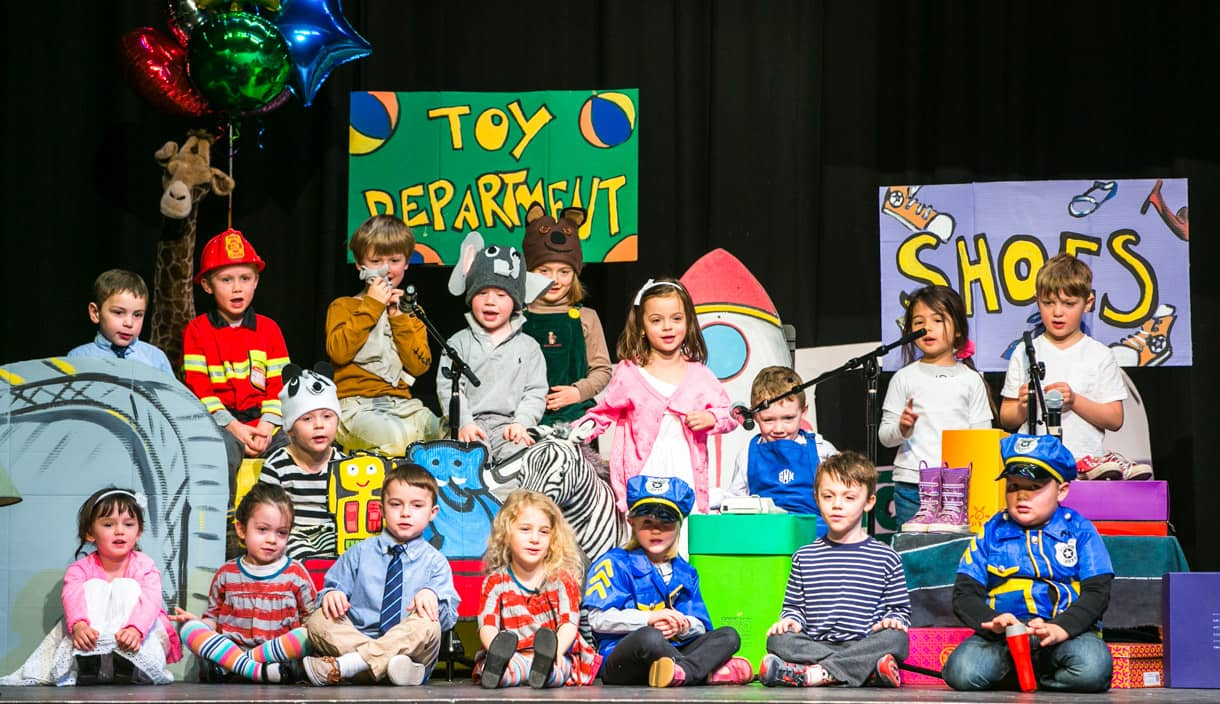 PreK class performs play