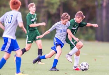 Brookwood students play in soccer game