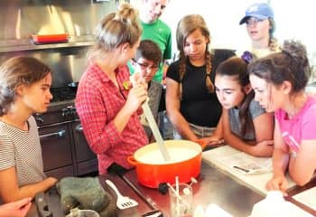 Students cook during Steep Week