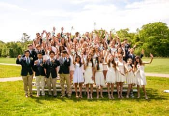 Brookwood students pose for celebratory class commencement photo