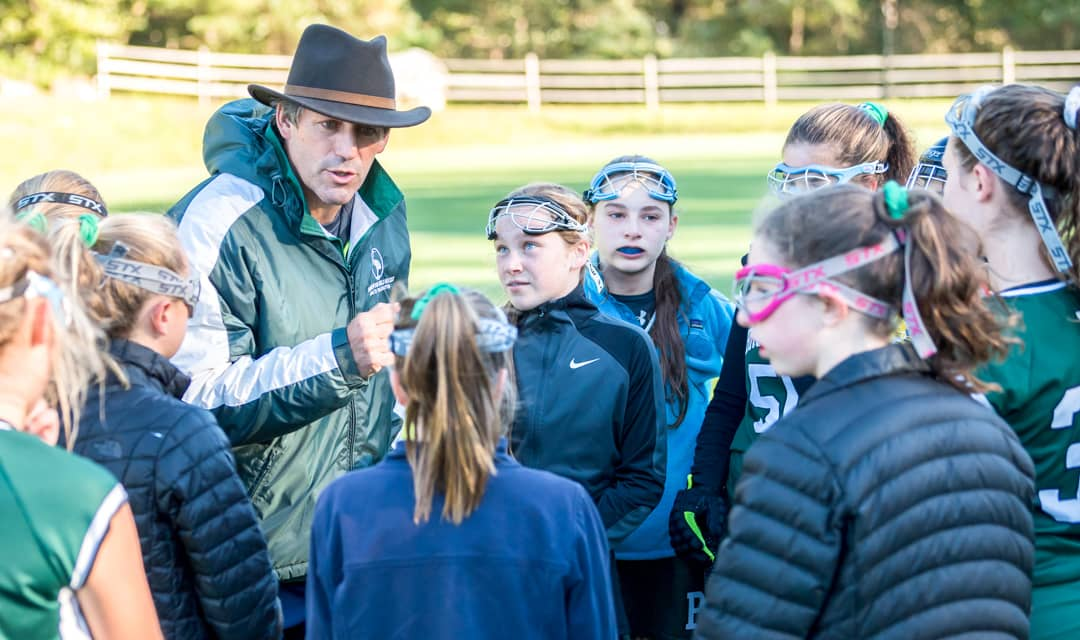 Coach gives talk to student sports group